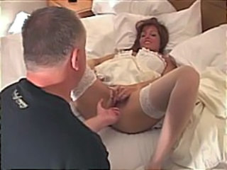 Amateur Bride Cuckold Lingerie  Stockings