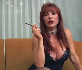 Amazing Big Tits  Redhead Smoking