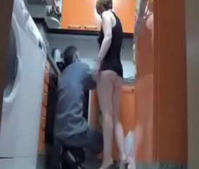 Ass HiddenCam Kitchen  Voyeur