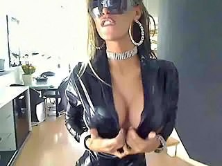 Amazing Big Tits Latex  Silicone Tits Stripper