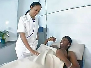 Ebony Interracial  Nurse Uniform