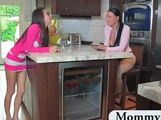 Amazing Kitchen Lesbian  Mom Teen