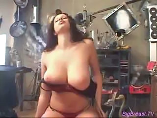 Amazing Big Tits Lingerie  Natural Stripper