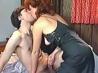 Handjob  Mom Old and Young Redhead Vintage
