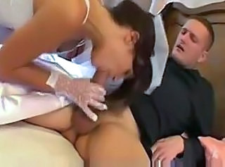 Blowjob Bride Clothed
