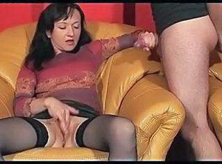 Amateur Handjob Masturbating  Stockings