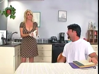 Big Tits Blonde Kitchen  Mom Natural