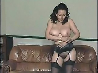 Amazing Big Tits Lingerie  Mom Natural Solo Stockings