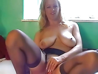 Amateur British European Masturbating   Solo Stockings