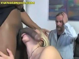Blowjob Cuckold Interracial Threesome Wife