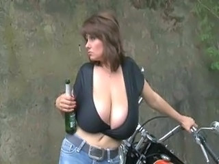 Big Tits Drunk Mature Outdoor