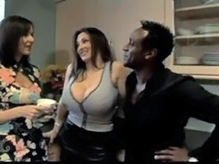 Big Tits Interracial  Threesome