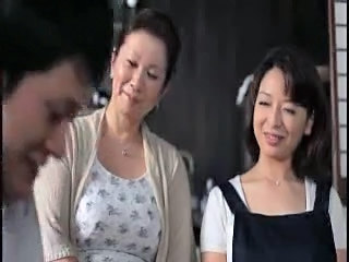 Asian Daughter Family Mature Mom Old and Young Teen