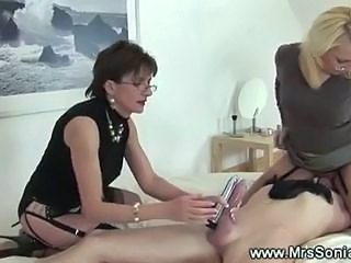 Facesitting Femdom Glasses Handjob Licking  Slave