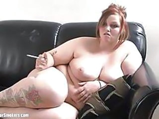 Amateur  Natural Smoking Tattoo Teen