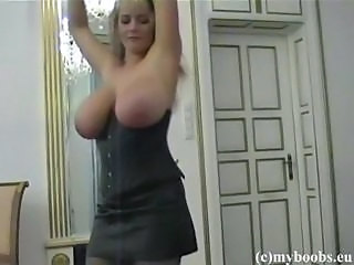 Amateur Big Tits Corset Dancing  Natural