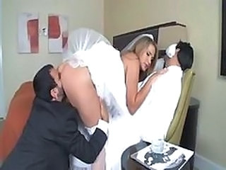 Ass Bride Clothed Cuckold Licking