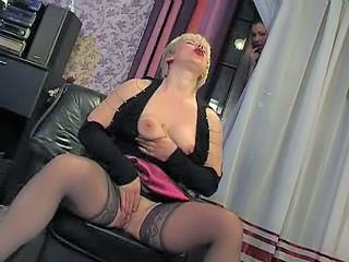 Masturbating Mature Orgasm Stockings
