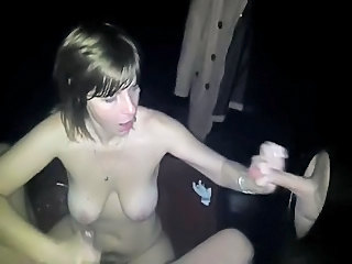 Amateur Handjob  Public  Wife