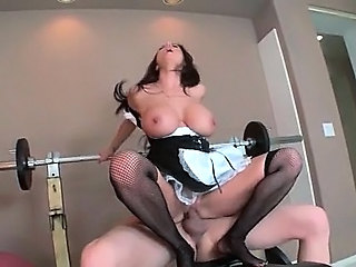 Amazing Big Tits Hardcore Maid  Riding Sport Stockings Uniform