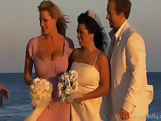 Beach Big Tits Bride  Outdoor