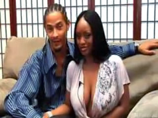 Amazing Big Tits Ebony  Natural Wife