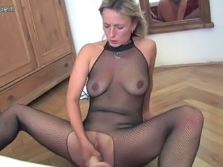 Lingerie Masturbating Mature  Toy