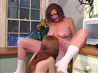 Daughter Lesbian Licking Mature Mom Natural Old and Young Redhead  Teen