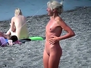 Beach  Nudist Outdoor Small Tits Voyeur