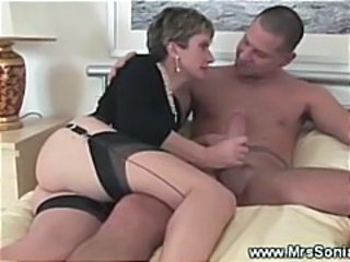 Handjob  Stockings Wife