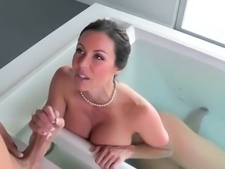 Amazing Bathroom Big Tits Cute Handjob  Mom