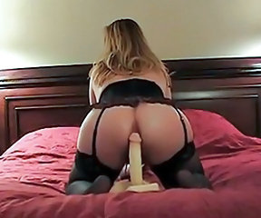 Amateur Ass Dildo Lingerie Masturbating  Toy