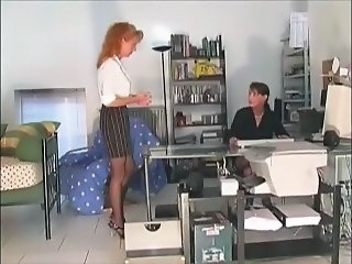 Mature Secretary Stockings