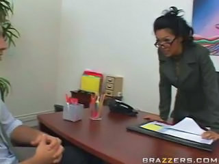 Glasses Interracial  Office Secretary