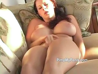 Amazing Big Tits Masturbating  Natural Pornstar