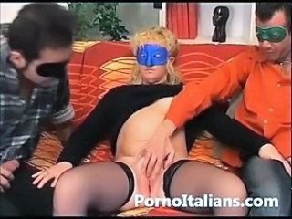 Amateur European Fetish Italian  Stockings Threesome
