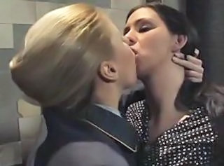 European German Kissing Lesbian