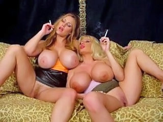 Big Tits  Silicone Tits Smoking