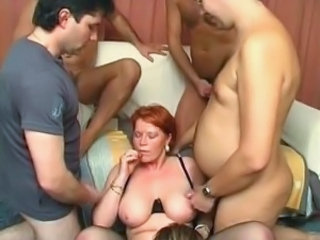 Cumshot Gangbang Mature Mom Old and Young