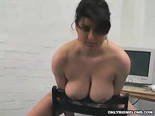 Babe Big Tits Cute  Natural Office