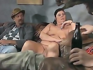Drunk Mature Threesome