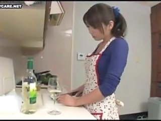 Asian Drunk Japanese Kitchen Wife