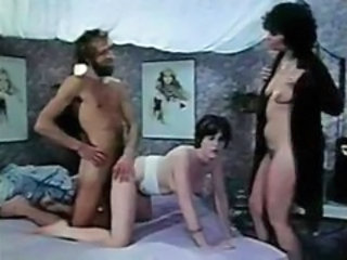 Daddy Daughter Family  Mom Old and Young Teen Threesome Vintage