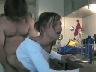 Amateur Doggystyle Kitchen Teen Wife
