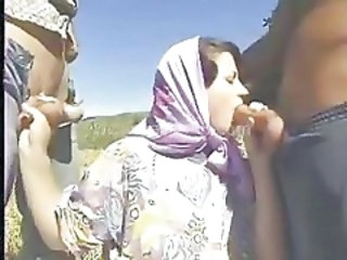 Blowjob  Outdoor Threesome Turkish