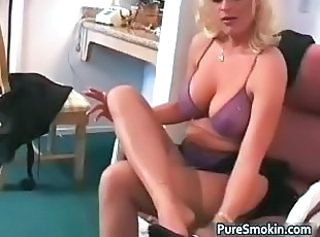 Big Tits Lingerie  Natural Smoking