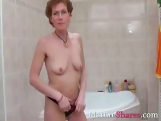 Bathroom Masturbating Mature Panty