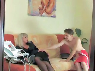 Legs Mom Old and Young Stockings