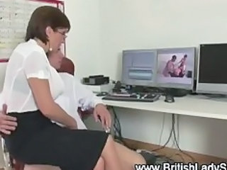 British European Glasses Handjob