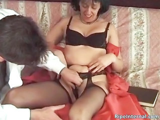 Lingerie Mature Mom Old and Young Stockings
